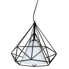 Metal Framed 242 Cone Shade Pendant