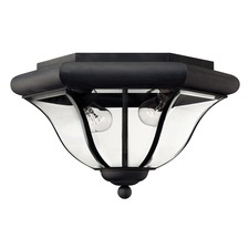 San Clemente Museum Black Outdoor Ceiling Light Fixture