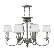 Plymouth 6 Light Chandelier with Shades