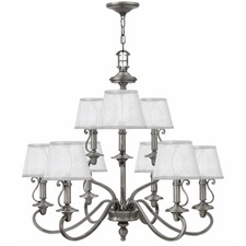 Plymouth Multi Tier Chandelier with Shades