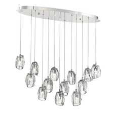 Diffi 13-Light Oval Pendant