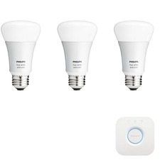 Hue A19 White and Color Starter Kit with Bridge