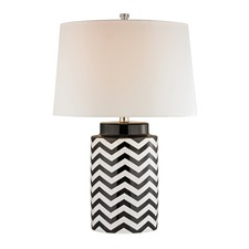 Chevron Black Table Lamp