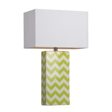 Green Chevron Table Lamp