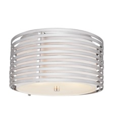 Chrome Rails Ceiling Flsuh Light