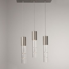 Bamboo Linear 3 Light Pendant