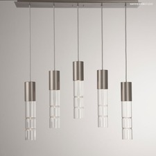 Bamboo Linear 5 Light Pendant