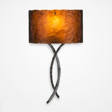Ironwood Twist Wall Light