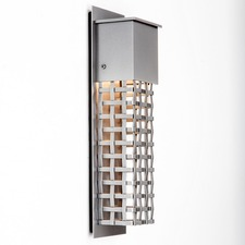 Short Square Cover Outdoor Wall Light Grey