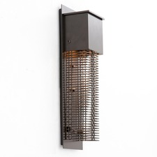 Short Square Cover Outdoor Wall Light Bronze