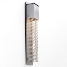 Tall Square Cover Outdoor Wall Light Grey
