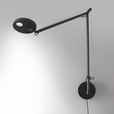 Demetra Plug In Swing Arm Wall Light with Motion Sensor