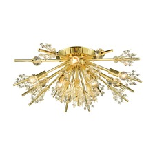 Starburst Semi Flush Ceiling Light