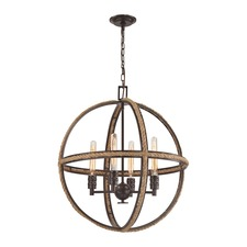 Natural Rope Round Chandelier