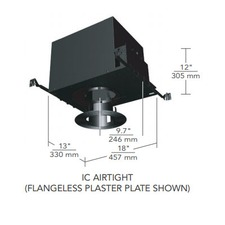 6 IN Round Flangeless Open Fixed IC Airtight Housing