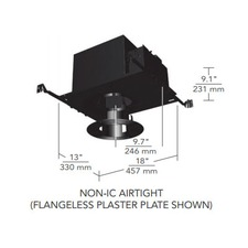 6 IN Round Flangeless Open Fixed Non-IC Airtight Housing