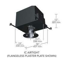 6 IN Round Flangeless Regressed Fixed IC Airtight Housing