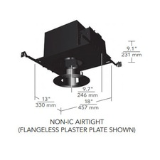6 IN Round Flangeless Regressed Fixed Non-IC Airtight Housin