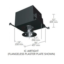 6 IN Square Flanged Regressed Fixed IC Housing