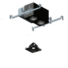 1X2 Flanged Open Adj Non-IC 2-Light Housing 40Deg 90CRI