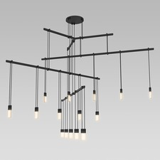 Suspenders 4 Tier Tri-Bar Pendant