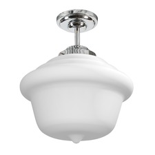 Schoolhouse Opal Ceiling Semi Flush Light