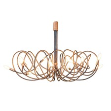 Copper Accent Chandelier