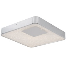 Crystalline Square Ceiling Light Fixture