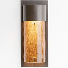 Outdoor Textured Glass Round Cover Wall Light