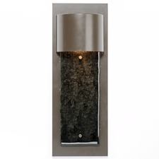 Textured Glass Outdoor Short Panel Cover Wall Light