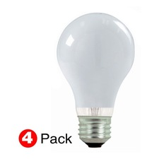 A19 Med Base Excel 43W 120V 4-Pack