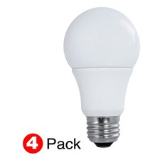 A19 Med Base 9W 120V 5000K 80CRI 4 Pack