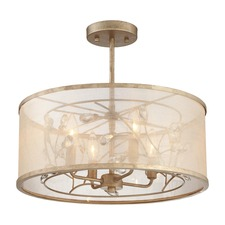 Saras Jewel Ceiling Semi Flush Light