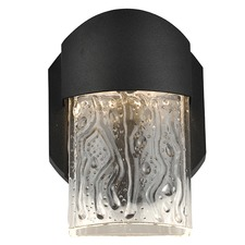 Mist Wet Location Art Glass Wall Fixture