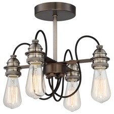 Uptown Edison Ceiling Semi Flush Light