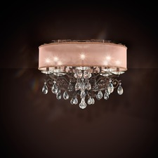 Filigrae Shade Ceiling Semi Flush Light