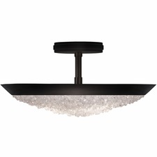 Arctic Halo Bowl Semi Flush Ceiling Light