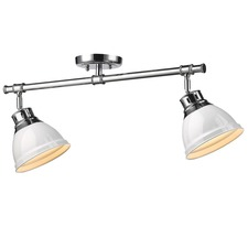 Duncan 2 Light Semi Flush Ceiling Light