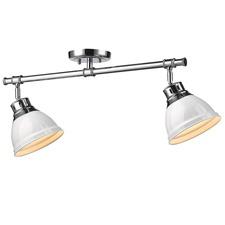 Duncan 2 Light Semi Flush Ceiling Light