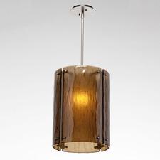 Textured Glass Oversized Pendant
