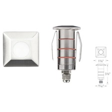 LED 1 inch Square 12V Recessed Landscape Light