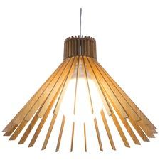 Wide Cone 1184 Turned Slats Pendant