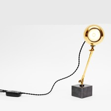 Q Bot Gold Table Lamp
