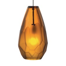Briolette Amber LED Pendant