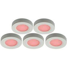 LED RGB Puck Light 5 Light Kit