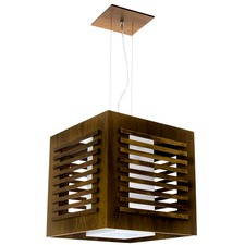 Single Slatted Box Pendant