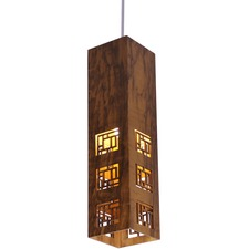 Line Maze Tall Rectangular Pendant