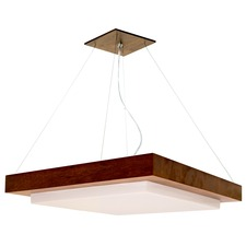 Square Wooden Frame 1210 Pendant
