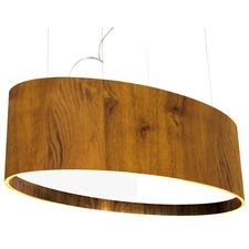 Organic Wide Oval Pendant