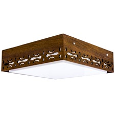 Square Arabesque Ceiling Light Fixture